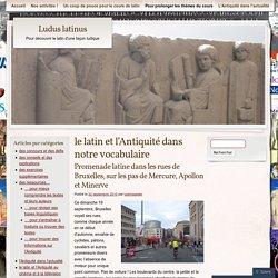 le latin et l'Antiquité dans notre vocabulaire
