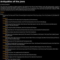 Antiquities of the Jews