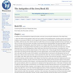 The Antiquities of the Jews/Book XX - Wikisource, the free online library
