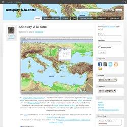 Antiquity À-la-carte