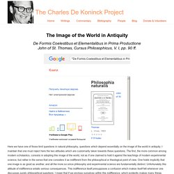 The Image of the World in Antiquity « The Charles De Koninck Project