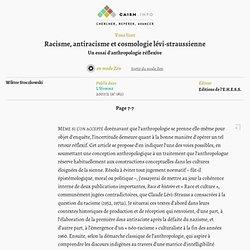 Racisme, antiracisme et cosmologie lévi-straussienne