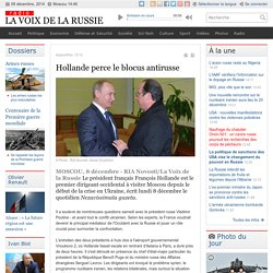 Hollande perce le blocus antirusse