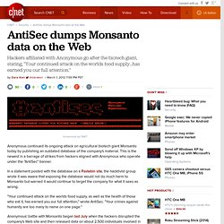 AntiSec dumps Monsanto data on the Web