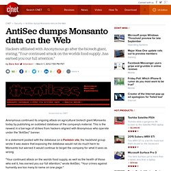 AntiSec dumps Monsanto data on the Web | Security