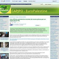 officine anti juive montée de toutes pièces par la LDJ
