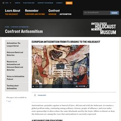 European Antisemitism from Its Origins to the Holocaust — Media