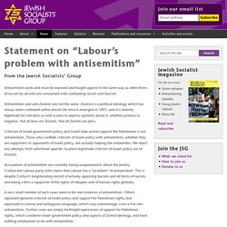 "Statement on ""Labour's problem with antisemitism"""
