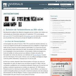 ANTISÉMITISME, Éclosion de l'antisémitisme au XIXesiècle