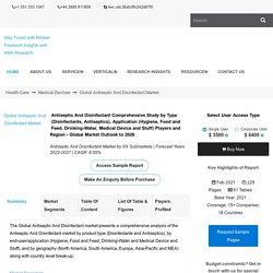 Antiseptic And Disinfectant Revenue