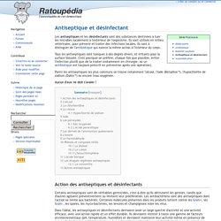 Antiseptique et désinfectant - Ratoupédia, l'encyclopédie du rat domestique