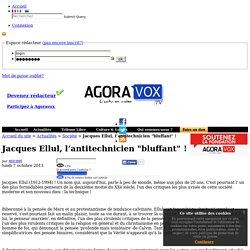 """Jacques Ellul, l'antitechnicien """"bluffant"""" !"""