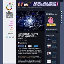 Antiterrorisme : 283 sites internet bloqués depuis janvier 2015