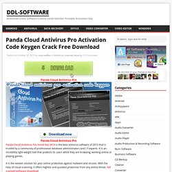 Panda Cloud Antivirus Pro Activation Code Keygen Crack Free Download - ddl-software
