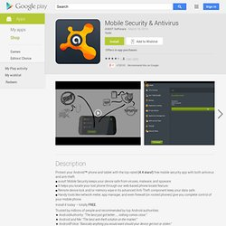 avast! Mobile Security - Apps on Android Market