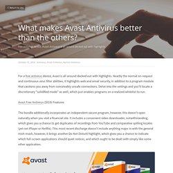 What makes Avast Antivirus better than the others? - Antivirus Avast Antivirus Norton Antivirus