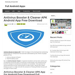 Antivirus Booster & Cleaner APK Android App Free Download - Full Android Apps