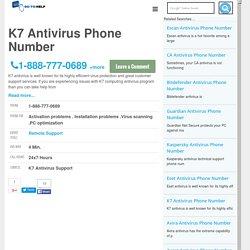 K7 Antivirus Customer Service Phone Number