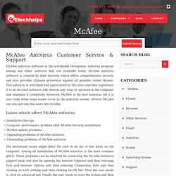 McAfee Antivirus Customer Service