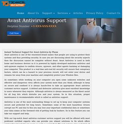 Avast Antivirus Customer Service Number for Instant Support