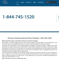Antivirus Customer Care Help/Support 1-844-745-1520 Number