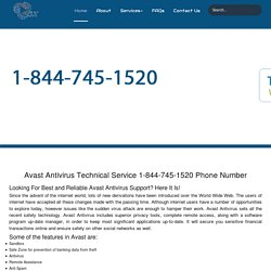 Avast Antivirus Customer Care 1-844-745-1520 Help/Support Number