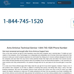 Avira Antivirus Customer Care 1-844-745-1520 Help/Support Number