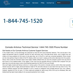 Comodo Antivirus Customer Care 1-844-745-1520 Help/Support Number