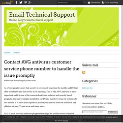 Contact AVG antivirus customer service phone number to handle the issue promptly - Email Technical Support