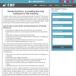 Panda Antivirus Customer Service (888)828-8814 Technical Support Team