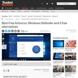Best Free Antivirus 2016: Windows Defender vs AVG, Avast, Avira, Panda and Qihoo - Qihoo 360 Total Security