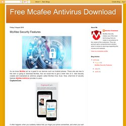 Free Mcafee Antivirus Download: McAfee Security Features