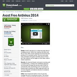 Avast Free Antivirus - Free software downloads and software reviews