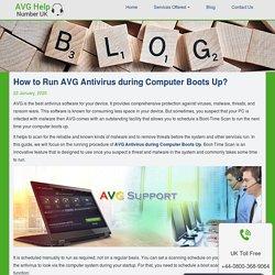 Run AVG Antivirus during Computer Boots Up