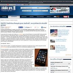 DAVFI, l'antivirus français pour Android : un système de sécurité globale