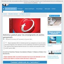 Antivirus gratuit pour les enseignants et autres personnels