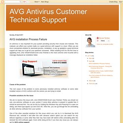 AVG Antivirus Customer Technical Support: AVG installation Process Failure