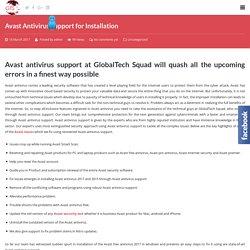 Avast Antivirus Installation Support