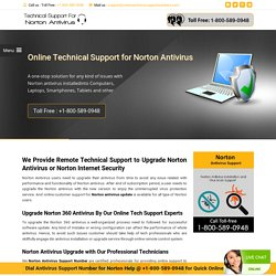 1800-746-3915 Upgrade Norton Antivirus for Internet Security