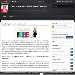 How Do I Update Panda Antivirus Manually - Customer Service Number, Support