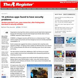 14 antivirus apps found to have security problems