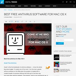 Best Free Antivirus Software for Mac OS X