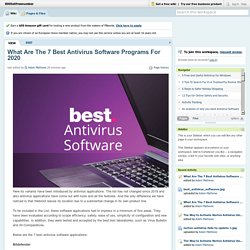 What Are The 7 Best Antivirus Software Programs For 2020