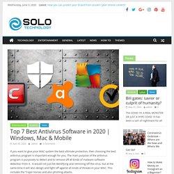 Top 7 Best Antivirus Software in 2020