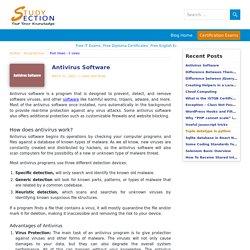 Antivirus Software program (AV software) - StudySection Blog