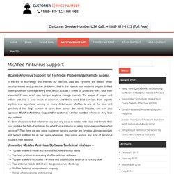 McAfee Antivirus Support, Call@1-888-411-1123 Customer Service