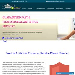 Norton Antivirus Support {1844-631-2188} Norton Customer Service Phone Number