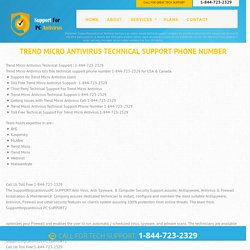 1.844.723.2329 Trend Micro Antivirus Tech Support Phone Number USA ,Canada