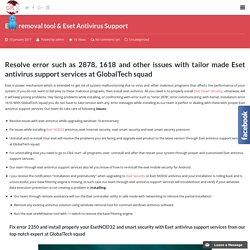 Eset Antivirus Support Security