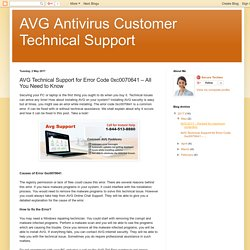 AVG Antivirus Customer Technical Support: AVG Technical Support for Error Code 0xc0070641 – All You Need to Know